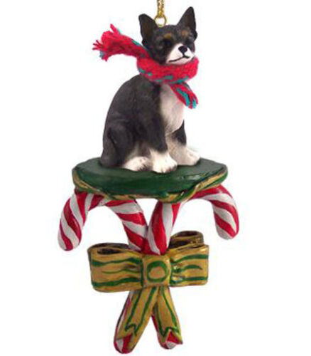 BLACK CHIHUAHUA DOG CANDY CANE CHRISTMAS ORNAMENT HOLIDAY XMAS gift pet lovers