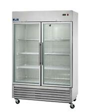 Arctic Air Agr49 49cuft Double Glass Door Reach In Refrigerator