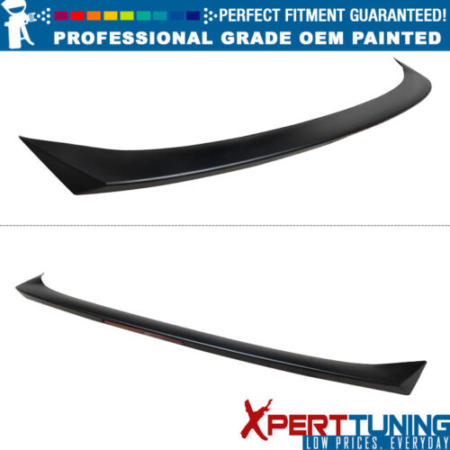 Fits 18-19 Honda Accord V2 Style Rear Trunk Spoiler Lip ABS OEM Painted Color