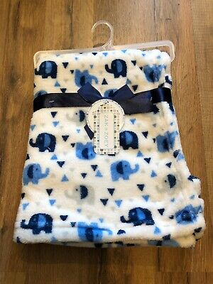 Zak And Zoey Soft Amp Snuggly Baby Blankets 30 Quot X 30 Quot Blue