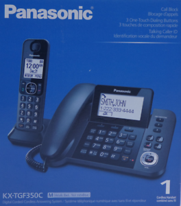 Panasonic-KX-TGF350M-C-DECT-6-0-Corded-Cordless-Phone-with-Answering-Machine