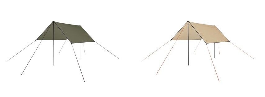 Grand Canyon Tarp 2 Tailles 2 Colours weather prougeection with Rods USF 50+