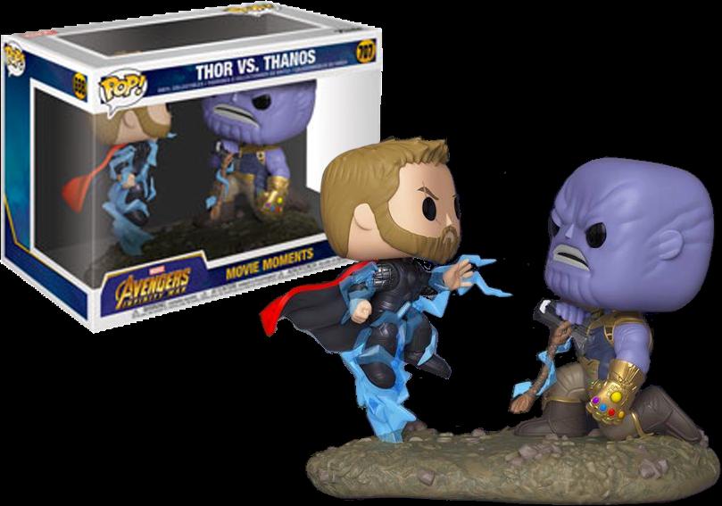 FUNKO POP  Avengers 3  Infinity War - Thor vs Thanos Movie Moments