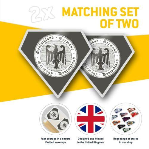 2 x Diamond Stickers 7.5 cm Deutschland Germany German Eagle  #7759
