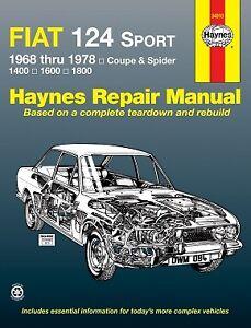 Fiat-124-Sport-Coupe-amp-Spider-1968-1978-Repair-Manual