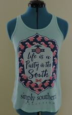 84f77ebb3b5903 item 3 SIMPLY SOUTHERN Sz Small Aqua Life Is A Party in The South Tank Top -SIMPLY  SOUTHERN Sz Small Aqua Life Is A Party in The South Tank Top