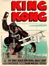 VINTAGE 1933 KING KONG MOVIE POSTER A3 PRINT