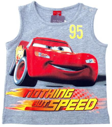 NEU! Disney Cars Lightning MCQUEEN Tanktop T-Shirt Shirt Pulli grau 80 86 92