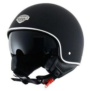 Casque-casco-helmet-jet-ASTONE-MINIJET-66-NOIR-MAT-taille-L-59-60