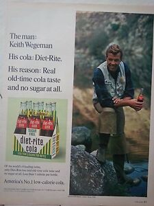 1966-Diet-Rite-Sugar-Free-Cola-Soda-Carton-Bottles-Handsome-Man-Waders-Ad