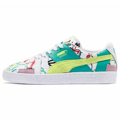 PUMA Basket Shantell Martin Graffiti Graphic Shoes 366531 Women's Size 8.5 | eBay