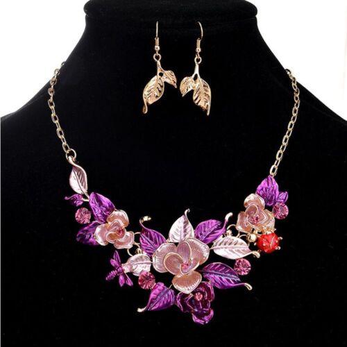 Collier feuilles coccinelle mariage pour les femmes bijoux Set Fête Accessoires