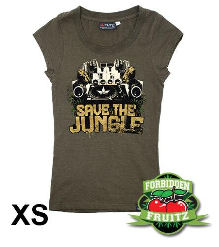 hemp Save The Jungle by THTC Clothing Co Women/'s T-Shirt