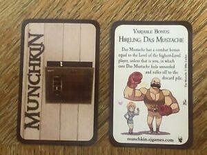Munchkin Door Munchkin Hireling: Das Mustache Promo Card Gen Con 2016