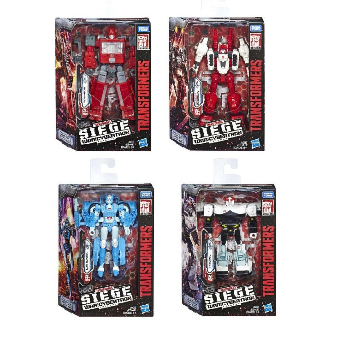 (P) TRANSFORMERS WAR FOR CYBERTRON SIEGE DELUXE PROWL,IRONHIDE,CHROMIA,SIXGUN