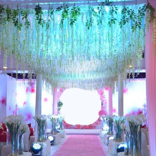 Artificial Silk Wisteria Leaf Garden Hanging Flower Ivy Garland Vine Room Decor