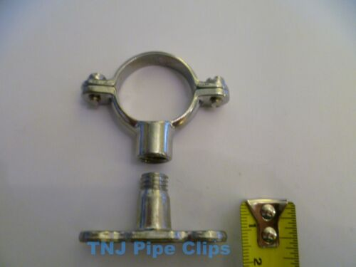 copper Pipe Clip support all sizes Chrome Munsen Ring /& Male Baseplate Brass