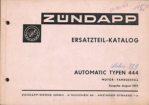 1-Zuendapp-444-Automatic-Ersatzteilkatalog-8-72-Zundapp-1972-Moped-Ersatzteile