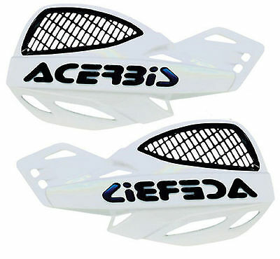 Acerbis Uniko White Vented Plastic Hand Guards Fits Yamaha Dirt Bikes Motorcycle