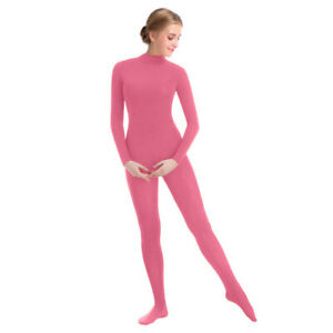 New-Women-Full-Bodysuit-Jumpsuit-Lycra-Spandex-Zentai-Unitard-Costume-Dark-Pink