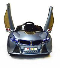 12V Battery Ride On Toy Car BMW i8 Power Wheels LED Remote MP3 Seat Belt Blue