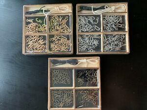 72 Buchstaben METALL Metallbuchstaben mit 2x Schnur Holzbox GOLD SILBER BRONZE