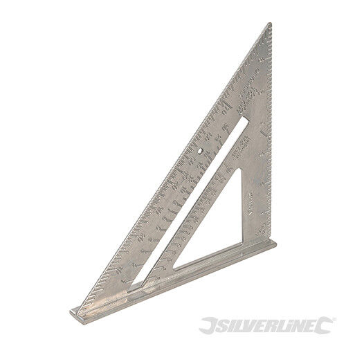 "Silverline ~ attentat Angle Triangle en Alliage d/'aluminium 7/"" 185 mm 734100"