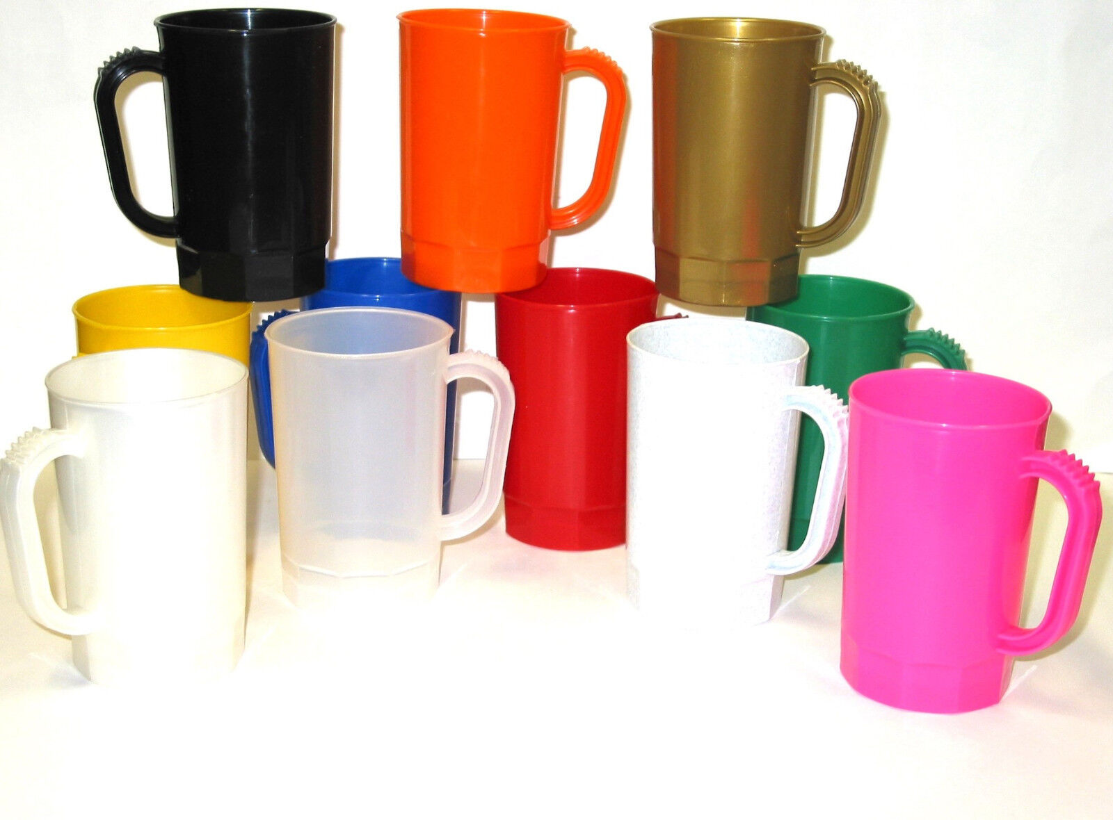 30 1 Pint Beer Mugs-Steins Mix of Farbes, Made in America Lead Free No BPA