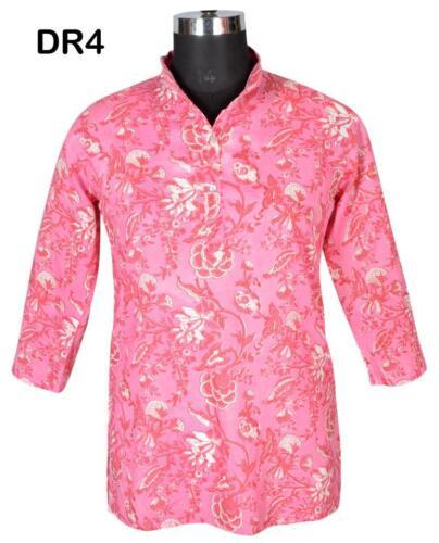 10 Cotton Hand Block Print Women/'s Short Top Kurti DR4