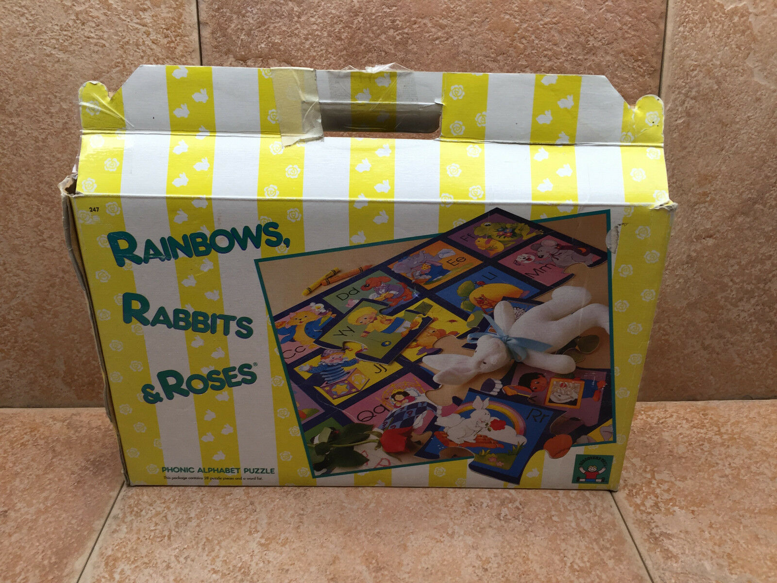 Rainbows Rabbits & pinks by Discovery Toys Phonic Alphabet Puzzle  - complete