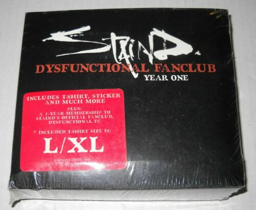 Large//Extra Large NEUF STAIND dysfonctionnel Fanclub Year One T-Shirt