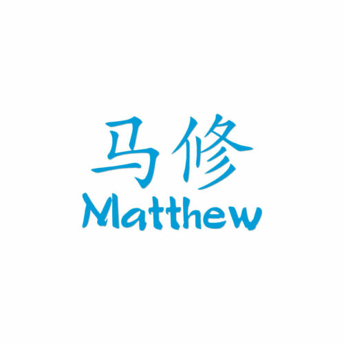ebn2207 Multiple Colors /& Sizes Chinese Symbol Matthew Name Decal Sticker