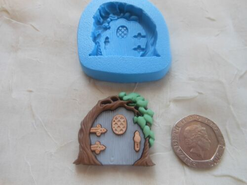 Clay Wax Resin Ornate Rounded Top FAIRY DOOR Sugarcraft//Fimo MOULD 30x30mm