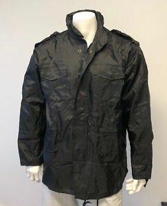Mens-Military-Field-Combat-M-65-Nylon-Jacket-Outdoor-Hunting-Coat-Black
