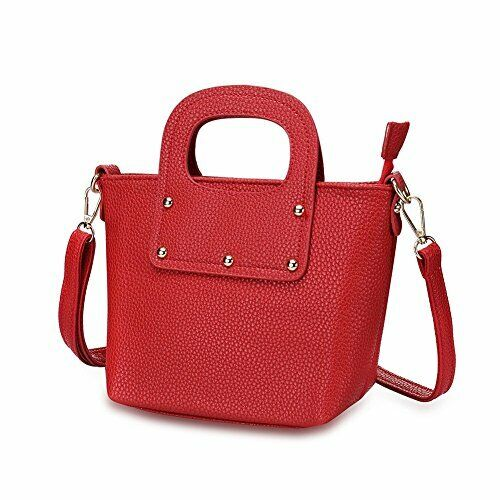 Daily Handbag//Purse For Women Naivo PU Leather Red Leather Classic Satchel Bags