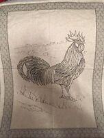 Le Telerie Toscane Italy Cotton Jacquard Kitchen Tea Towel Rooster