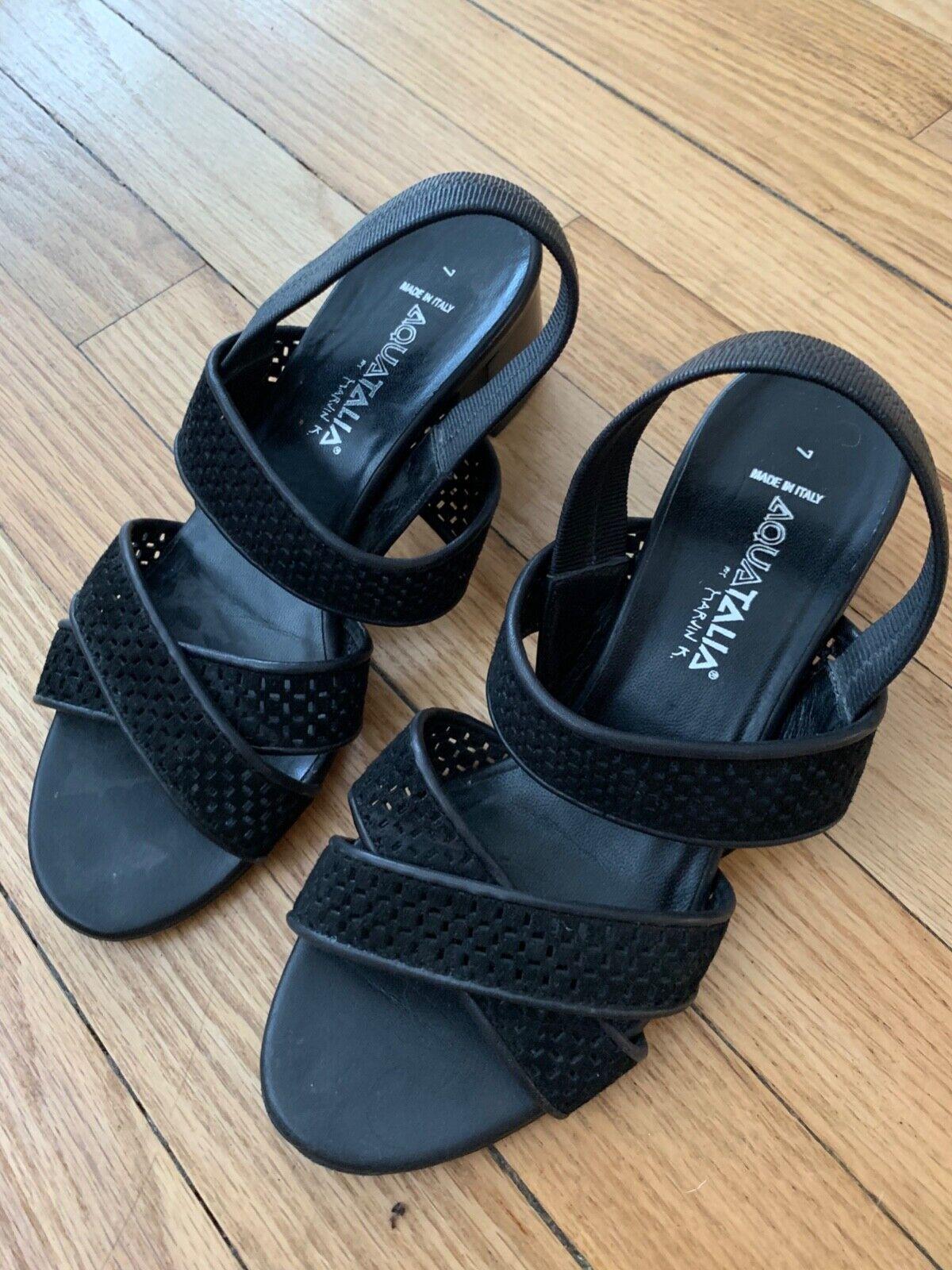 Aquatalia Strappy Black sandals  - image 1