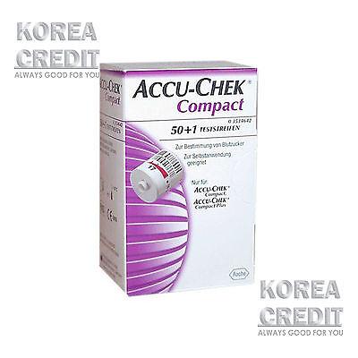 NEW Genuine Roche Accu-Chek Compact Strips 50+1 Test strips