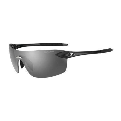 Tifosi Vogel 2.0 Sunglasses, Sports Eyewear, Smoke Lenses, Gloss Black Frame