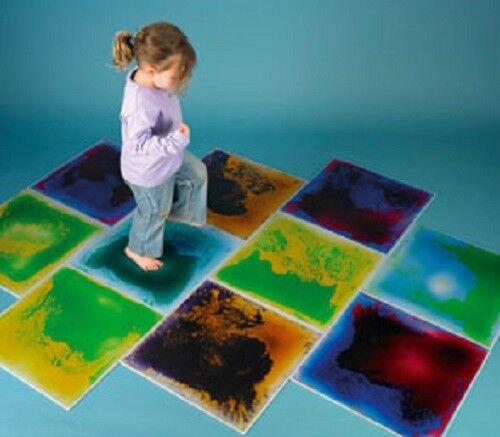 SENSORY ROOM SET OF 6 COLOUR CHANGE Fußboden MATS SECTION AUTISM ASPERGES ADH