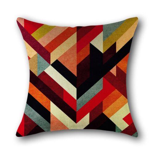 Abstract Geometric Cotton Linen Throw Pillow Case Sofa Cushion Cover Home Decor