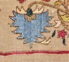 Antique Ottoman Silk Embroidered Turkish Linen Yaglik Towel Nice Museum Quality