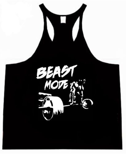 Montante deadlift Racerback Bodybuilding basso Scoop Palestra Tank Canottiera Palestra Canotta Top