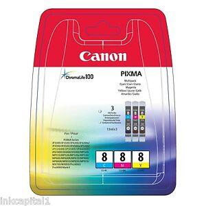 Canon-Multi-Pack-3-X-Original-Oem-De-Inyeccion-De-Tinta-Cartuchos-Cli-8c-Cli-8m-Cli-8y