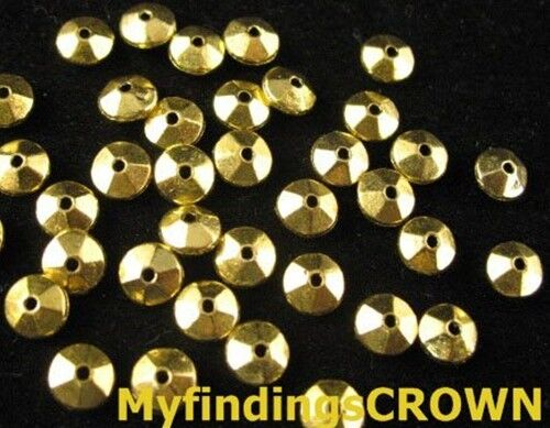 250 Pcs Antiqued gold smooth taper spacers FC874
