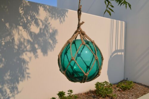 """REPRODUCTION TURQUOISE GLASS FLOAT FISHING BALL BUOYS 12/"""" #F-1029"""