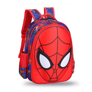 9d397d9c1da Details about Child Spiderman School Bags Boys Waterproof Backpacks Girls  Book Bag for Kids