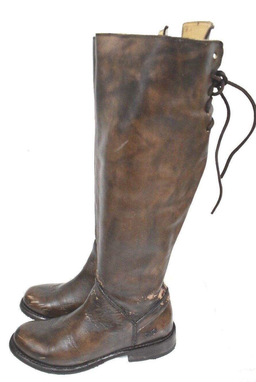 Bed Stu Manchester Teak Glaze Cobbler Series Tall Lace Up Pelle Stivali 6.5  #4