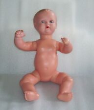 VINTAGE TURTLE MARK SCHILDKROT CRYING CELLULOID BABY DOLL, GLASS EYES, GERMANY