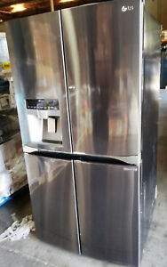 Refrigerator LG LPXS30866D 4 Door French Door Black Stainless Major Appliances